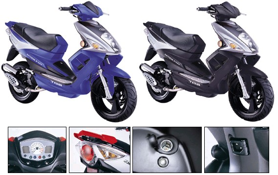 The R50X - Contact us in Lexington, Kentucky, for mopeds; we're your top source for motorized scooters!